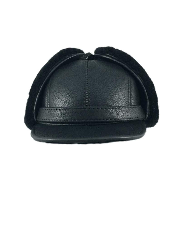 c1ea7744 Zavelio Women's Shearling Sheepskin Elmer Fudd Earflap Trooper Visor Hat