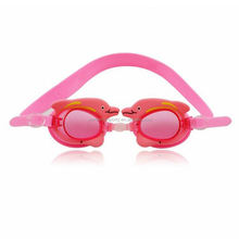 Silicone funny mirrorred kids swimming goggles