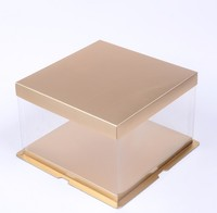 Wholesale tall cake box/clear plastic cake box/box for cake