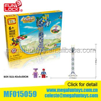 537 Pcs Amusement Park Knex Model Giant Frisbee Building Block ...