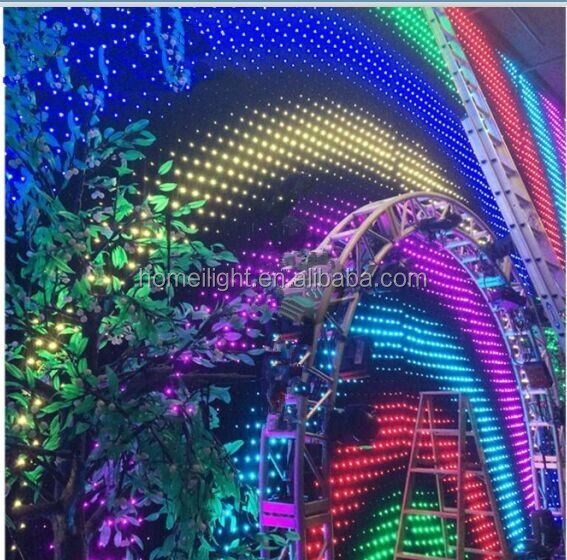 full color video wall p18cm curtain for rental use RGB vison curtain for stage backdrop