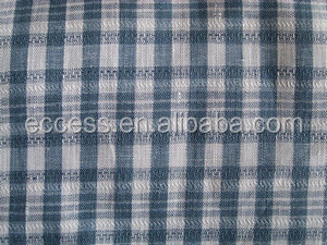 Natural Linen Fabric Checks Pattern Upholstery Fabric