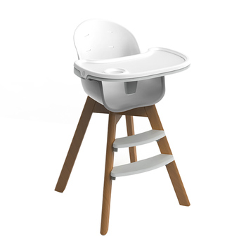Wooden High Chair Modern Adjule Rotatable Feeding Baby Chairs For Infants Toddlers