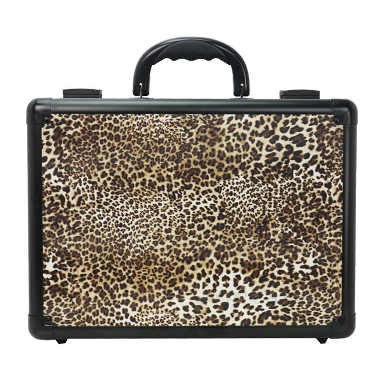 Oem Directed Make Up Tool Bag Custom Organic Cotton Makeup Bag Popular Ladies Leopard Handbag 15