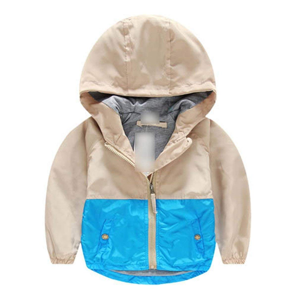 bcc3207bd Get Quotations · Yamed Hooded Children Windbreaker Baby Spring Jackets for Boys  Jacket Coat Girls Clothes Kids Outerwear