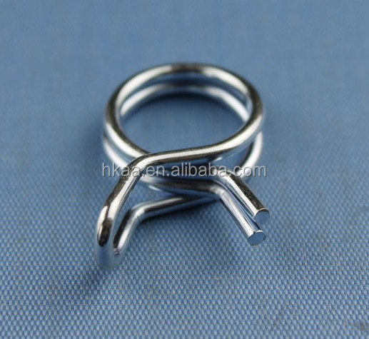 Custom wire form fabrication doubel wire hose clamp wire form spring clip