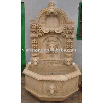 Beau Pink Lion Head Cheap Garden Wall Fountain