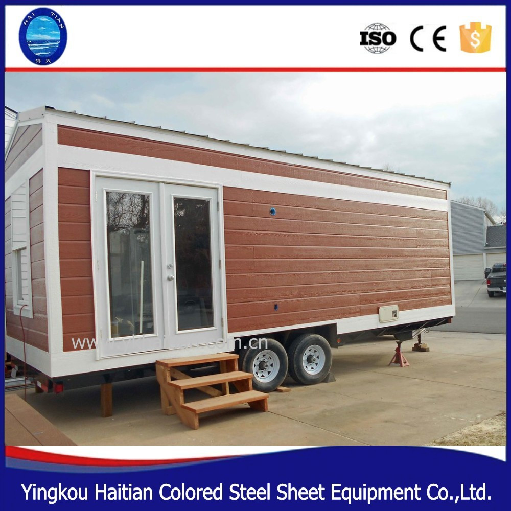 Tree house wooden movable prefab tiny house on wheels prefabricated green mobile workshop trailer mobile house for sale