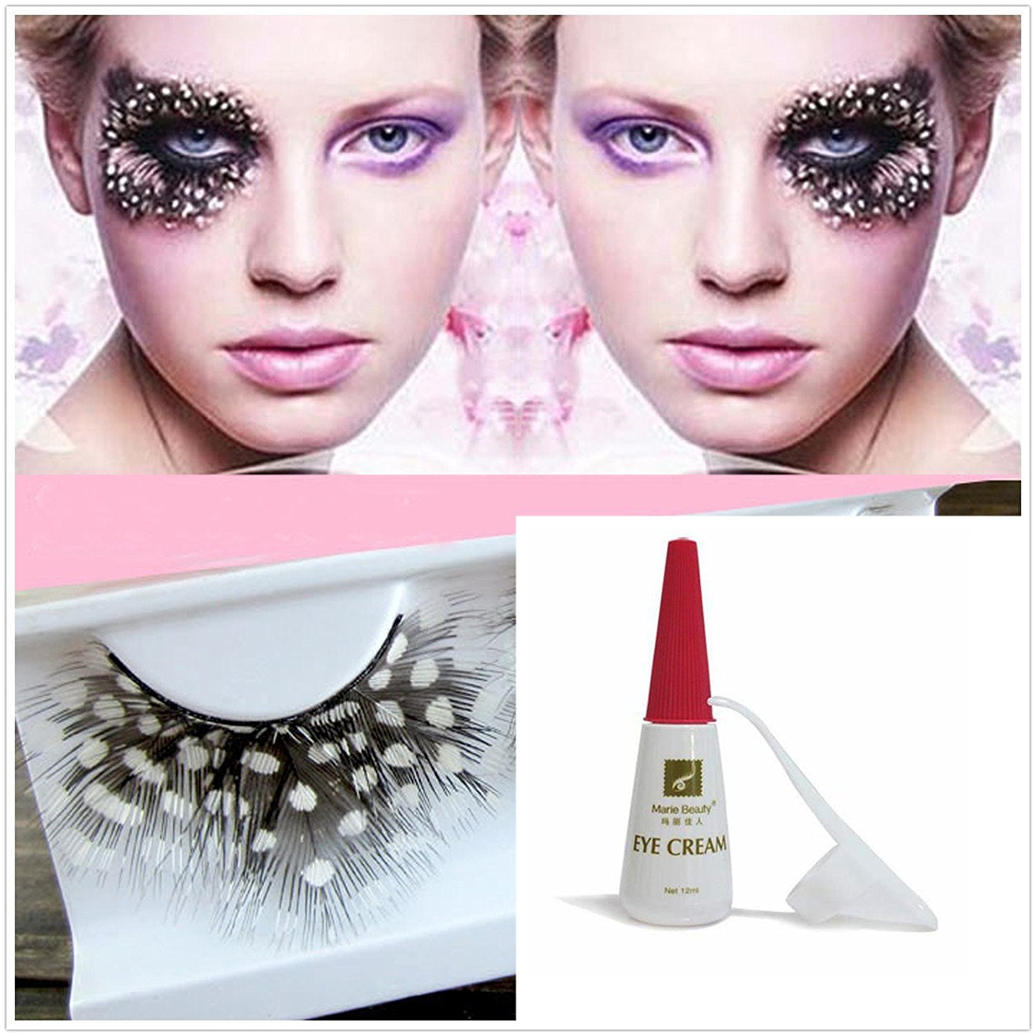 Buy Beauty Ii Girl Fancy Dress Dance Party Makeup Feather False