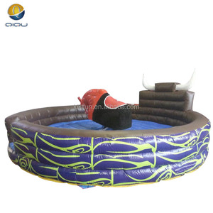 Factory manufactured crazy inflatable mechanical bull, inflatable rodeo bull for sale
