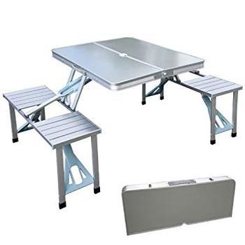Buy Aluminio Persona maleta Aluminio Paraguas Maleta Picnic Mesa Agujero Con 4 Conjunto Camping Plegable De v0OwNnm8