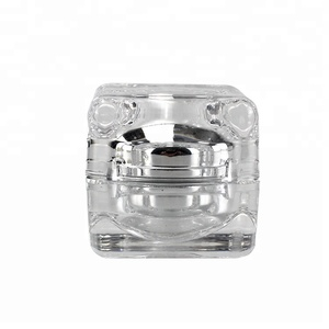 3g 5g 10g 4oz Mini Clear Cream Amber Pink Crystal Luxury Seal Acrylic pet Plastic Cosmetic Jar