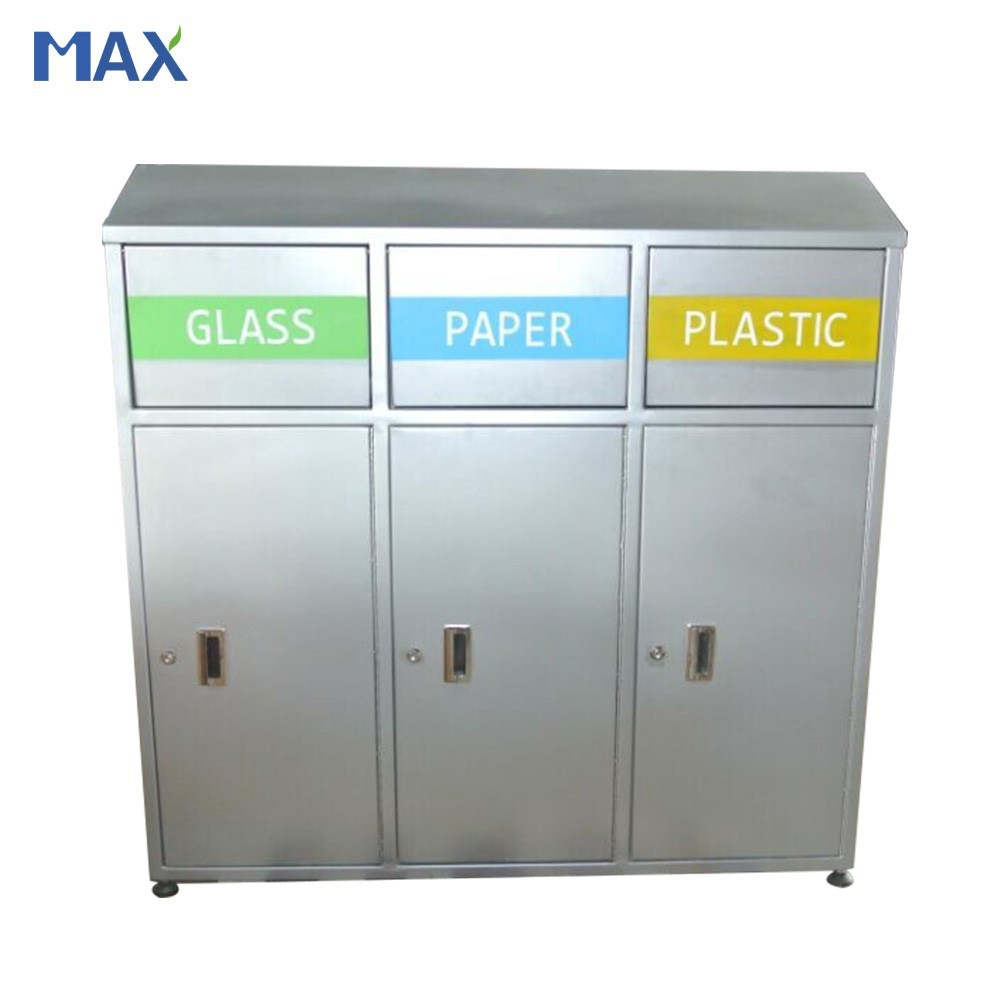 The Trash Can Manufacturer 3 Compartment Recycle Outdoor Garbage ...