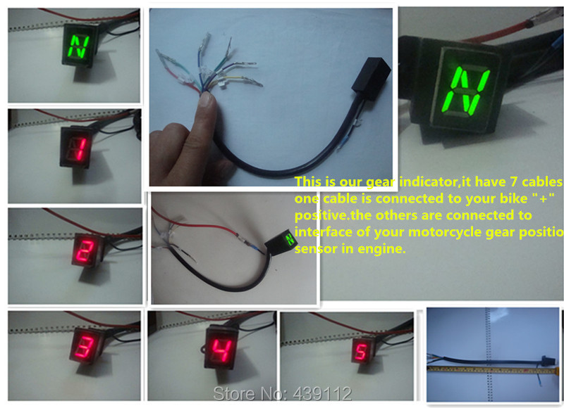 2016 New Hot Sale Free Shipping Red Led Universal Digital Gear