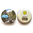 Round Shape Metal Magnetic Bottle Opener Iron Fridge Magnet