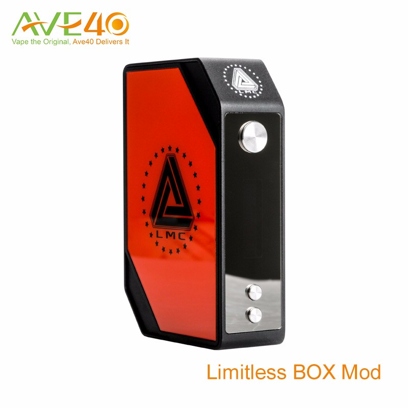 2016 New product American made original limitless 200W vape atty rda and LMC BOX MOD 200w mod with 4 changeable plates