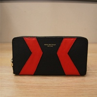 new arrival chevron leather wallet ladies multicolor ladies beautiful bifold wallet