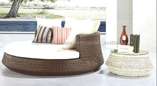 Resina di vimini mobili da giardino divano letto usato rattan vimini divano id prodotto - Mobili di vimini ...