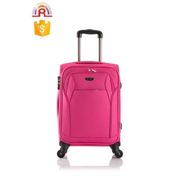 Large Suitcase Soft Luggage Shocking Pink Color Eva 24 Inch Expandable Sets Travel