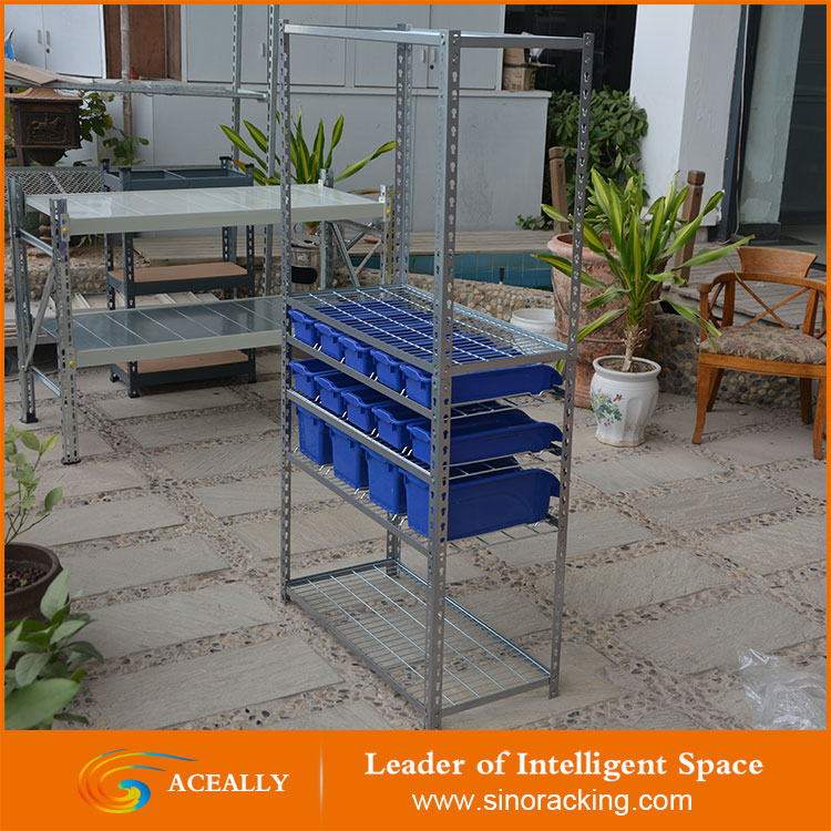 Warehouse Plactic Storage Bin Rack For Machine Parts