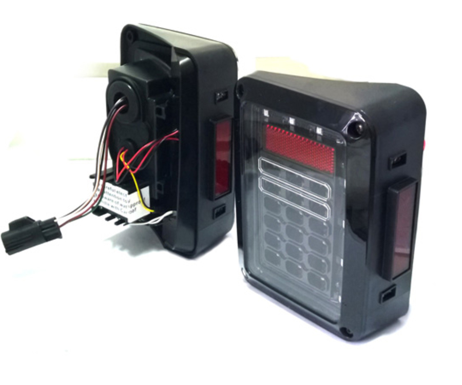 motorr der beleuchtung led r ckleuchten 24v lkw 4x4 off road automatisches beleuchtungssystem. Black Bedroom Furniture Sets. Home Design Ideas