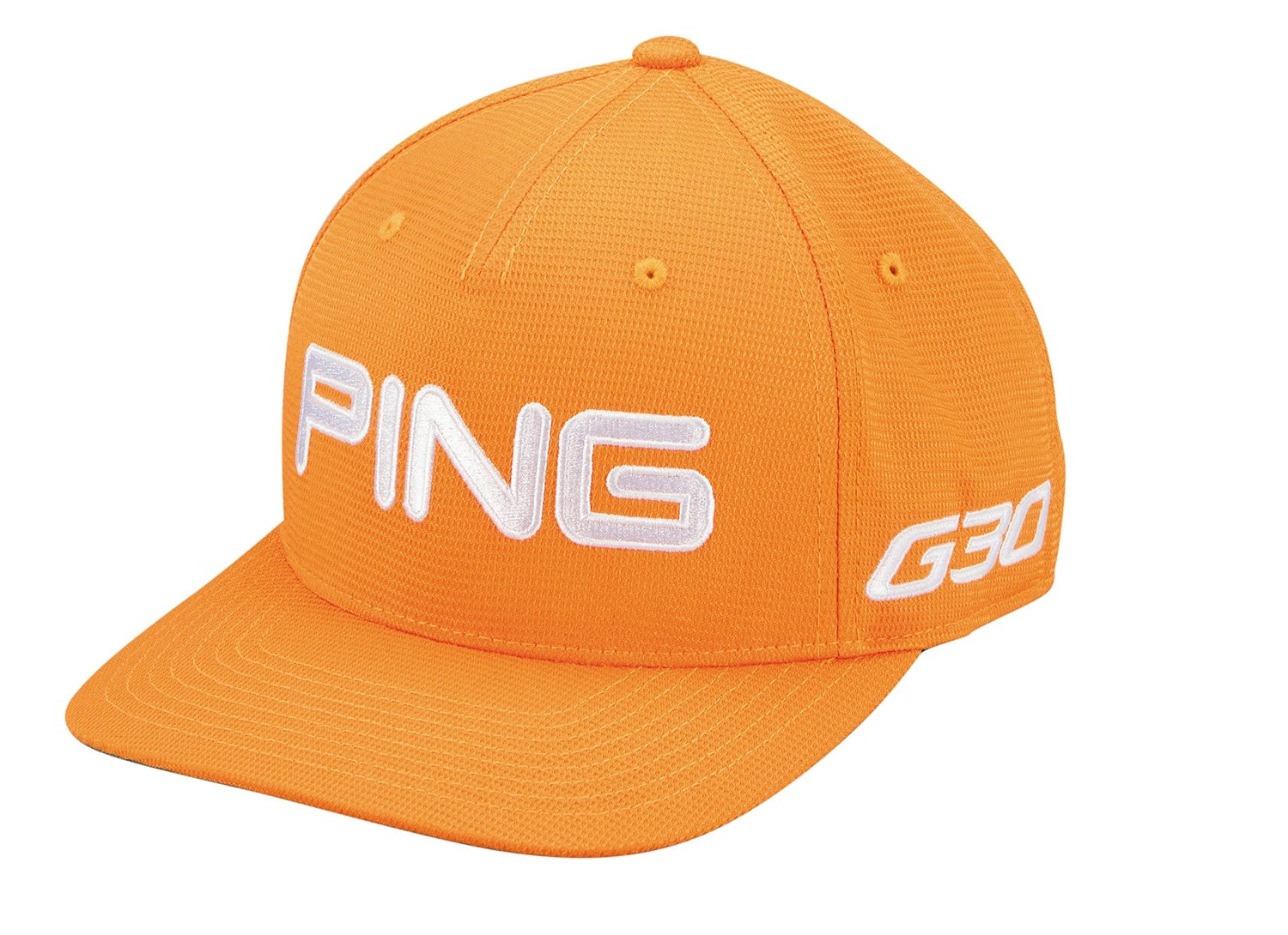 f76056289d89e Get Quotations · New 2014 PING G30 Tour Structured Fitted Golf Hat COLOR   Orange White SIZE