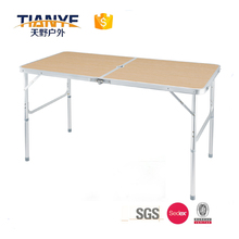 Tianye 4ft Aluminum Portable Folding Utility Table with Carrying Handle for Indoor Outdoor Picnic Party Dining Camping, White