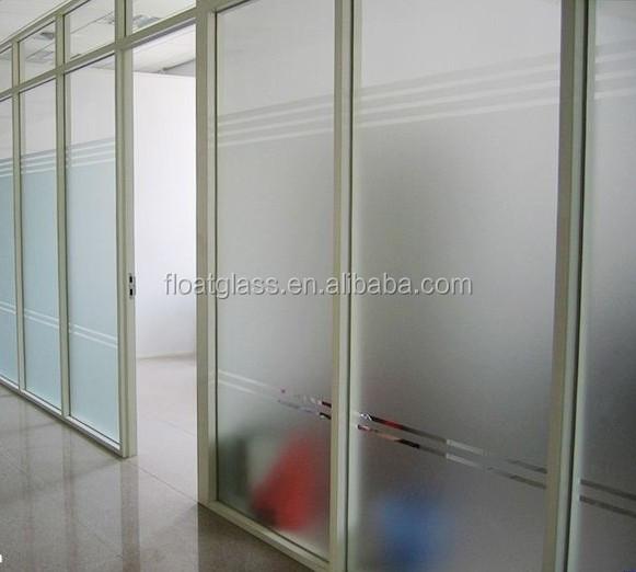 Tabique de vidrio esmerilado esmerilado de vidrio templado - Tabique de vidrio ...