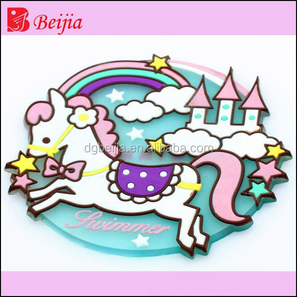 flying horse design soft PVC coaster for cup