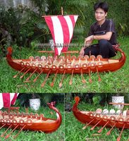 XL DRAKKAR VIKING CLINKER BUILT HANDICRAFT MODEL