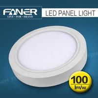 Guzhen faner lighting white frame surface led panel light surface sqaure and round led panel light for indoor