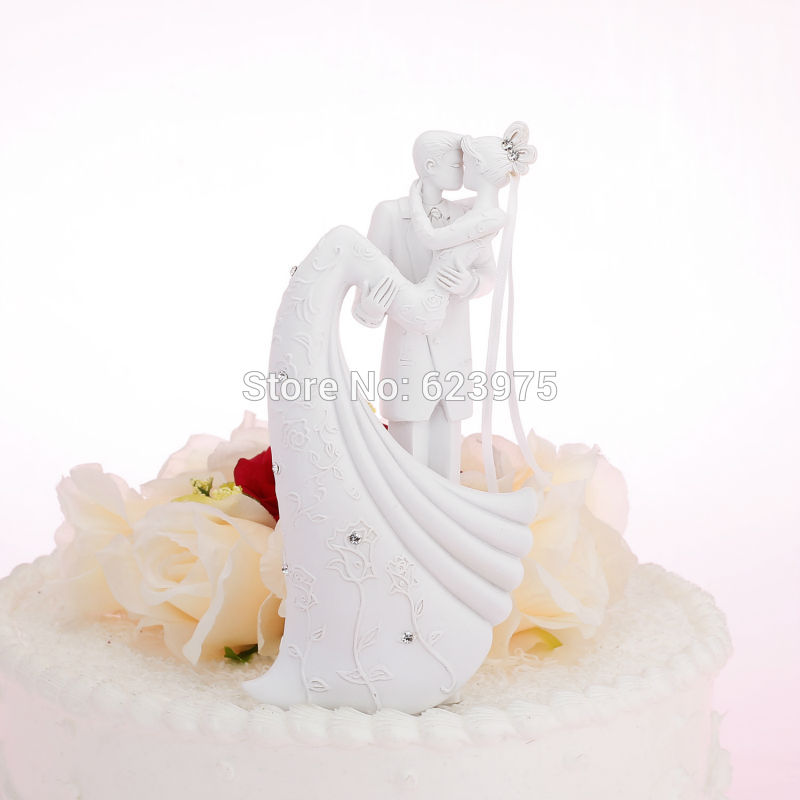 Romantic Wedding Cake Toppers White Supplies