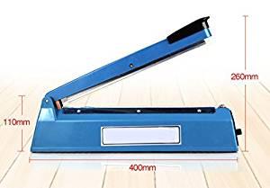 """Buwico® 220 V 3 Sizes /8"""" 200mm/12"""" 300mm/16"""" 400mm /Impulse Sealer for Plastic Film Aluminum Foil Bag Kraft Paper Bag Heating Impulse Sealer, Hand Impulse Sealer (12"""" 300mm)"""