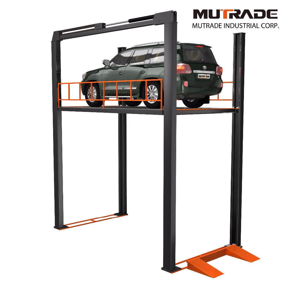 Hydraulic garage four post simple car lift automotive lifts