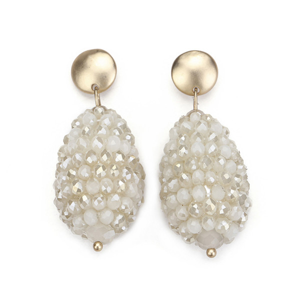 ali express jewelry white crystal stud earring costume jewelry