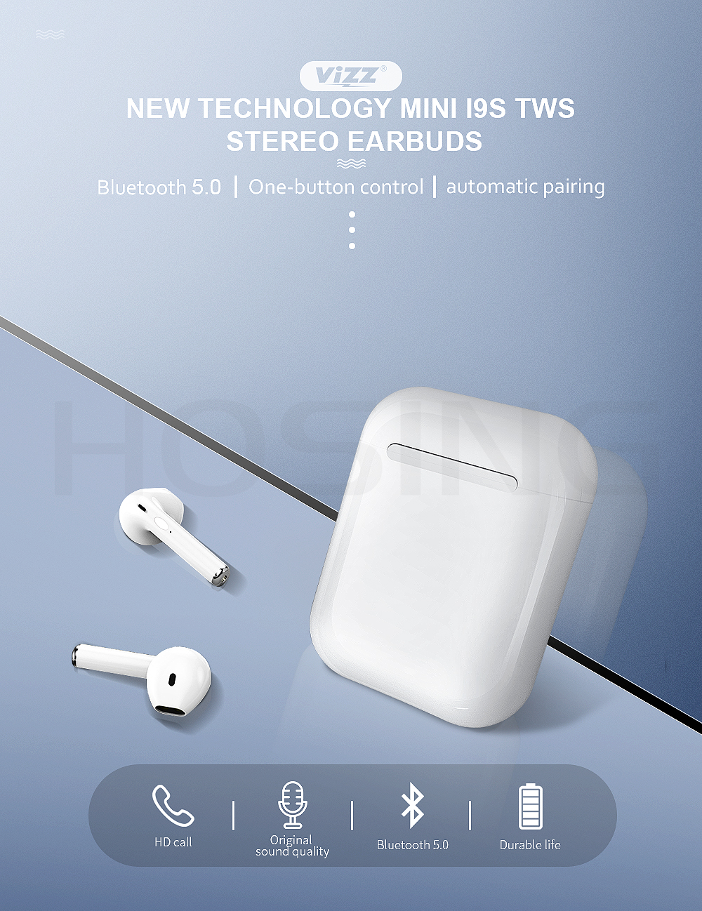 China 2019 Estuche de carga de Tws I7s los auriculares
