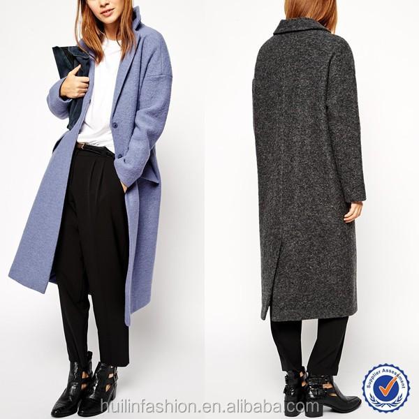 Schijvens Mode Jassen : Nieuwe aankomst mode oversized revers wol maxi dames