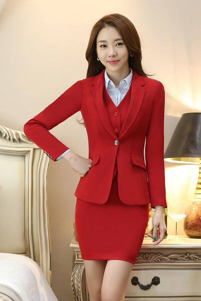 View Larger Image. 2017 Latest Beautiful Ladies Office Red Suits