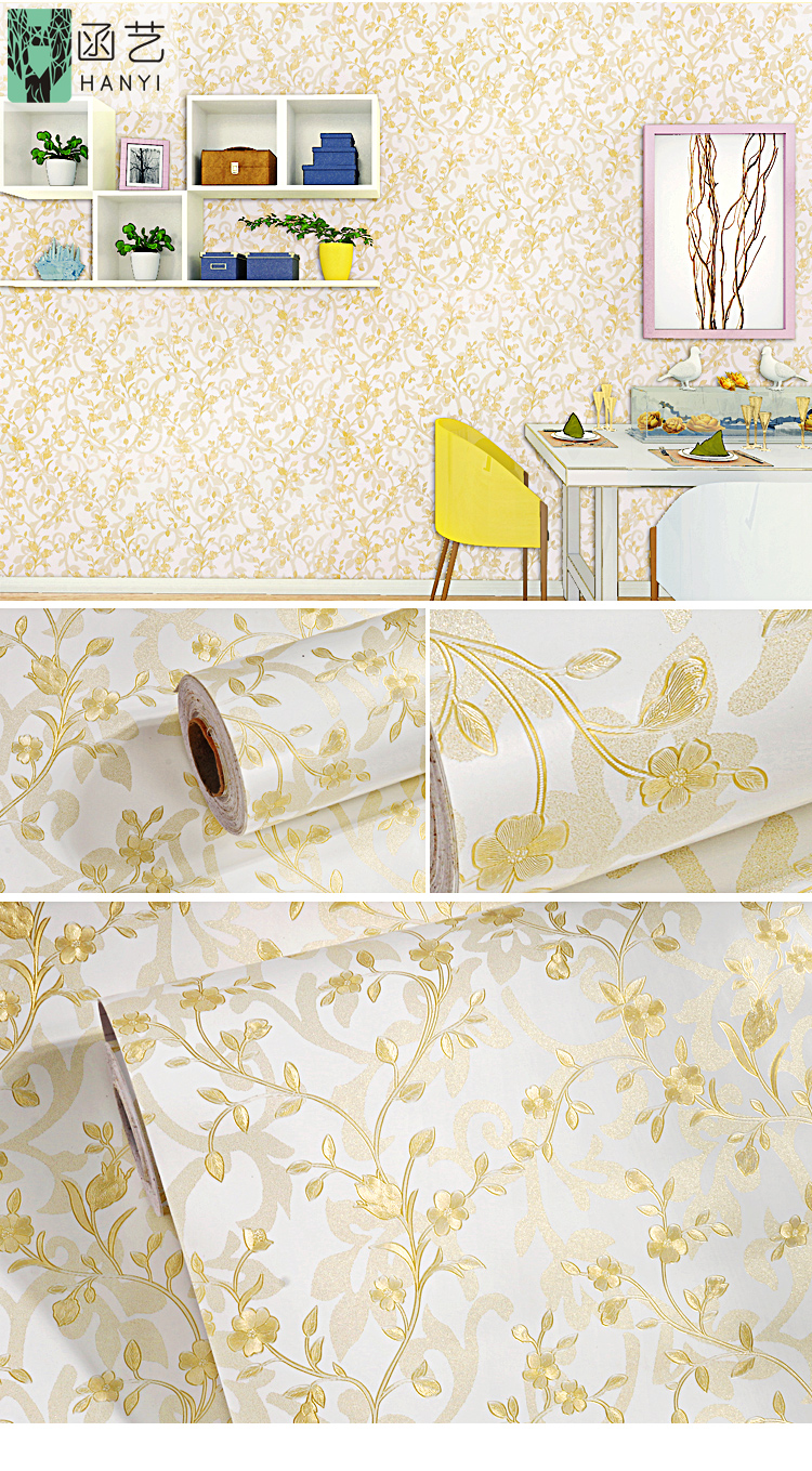 Luxury Royal Home Interior Wallpaper 3d Floral Wallpaper Mural