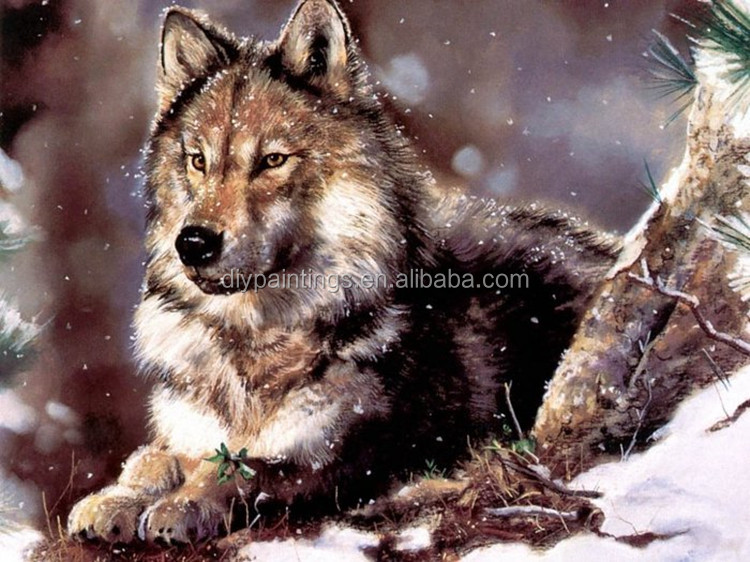 Crafts Diamond Embroidery Wolf Diy Full Diamond Painting Kit for Square Drill Rhinestone Pasted y19