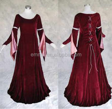 Medieval Renaissance Gown Dress Costume LOTR Wedding Halloween Costume BWG-2427