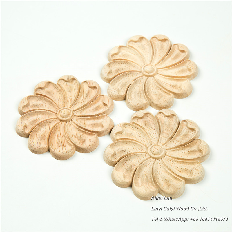 appliques and onlays hand carved wood ornaments