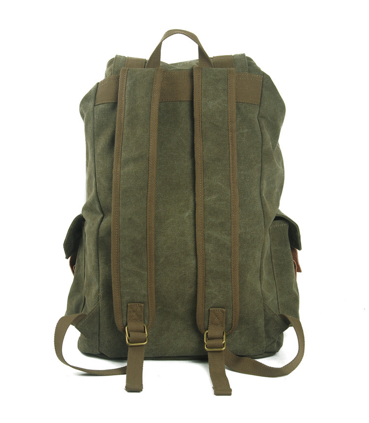 European Style washed canvas school bag, rucksack bag, hiking backpack