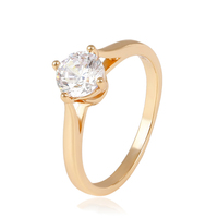 14044 Xuping diamond fashion jewelry, Fashion engagement ring, 18K Gold Plated wedding Rings
