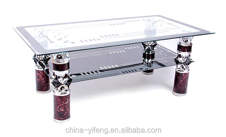 High quality aluminium leg glass top coffee tables made in for High quality coffee tables