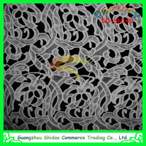 New Design milky silk embroidery lace fabric textile SDSN140