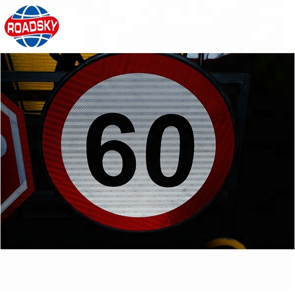 Custom Reflective Triangle Red Road And Traffic Signs For Cars