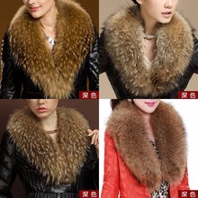 Wholesale high quality really raccoon fur coat collars/winter down jacket coat collars