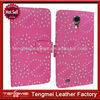 New Design Case For Samsung Galaxy Mega 6.3 i9200,Rose Luxury Bling Diamond Leathher Case For Samsung Galaxy Mega 6.3