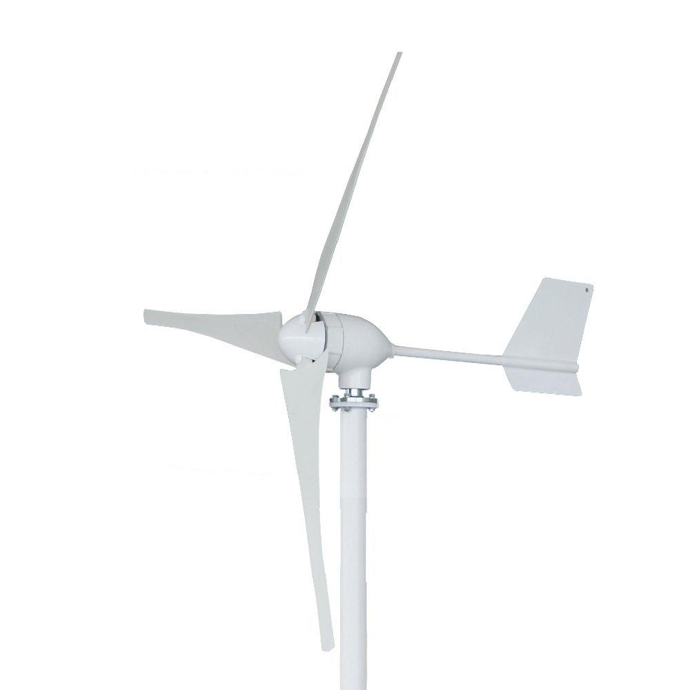 Wind Turbine Generator, Vogvigo Wind Turbine Generator Hybrid Wind Generator 3 Blades 600W-700W DC 24/48V Low Wind Speed Waterproof Wind Controller